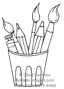 artist tools clipart images and stock photos.