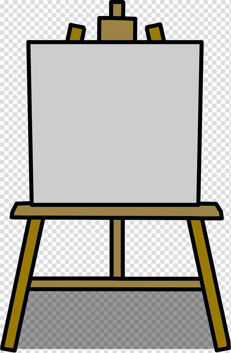 Easel Painting Art Drawing , canvas transparent background.