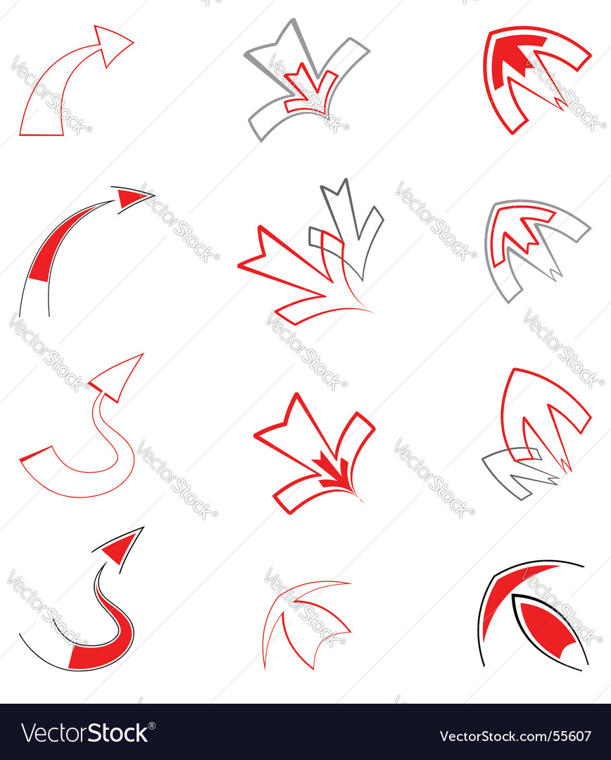 Artistic arrows Royalty Free Vector Image.