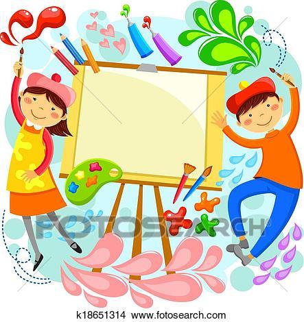 Artistic children Clipart.