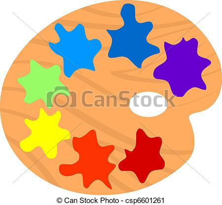 Vector Clip Art of Illustration of Artistic palette csp6601261.