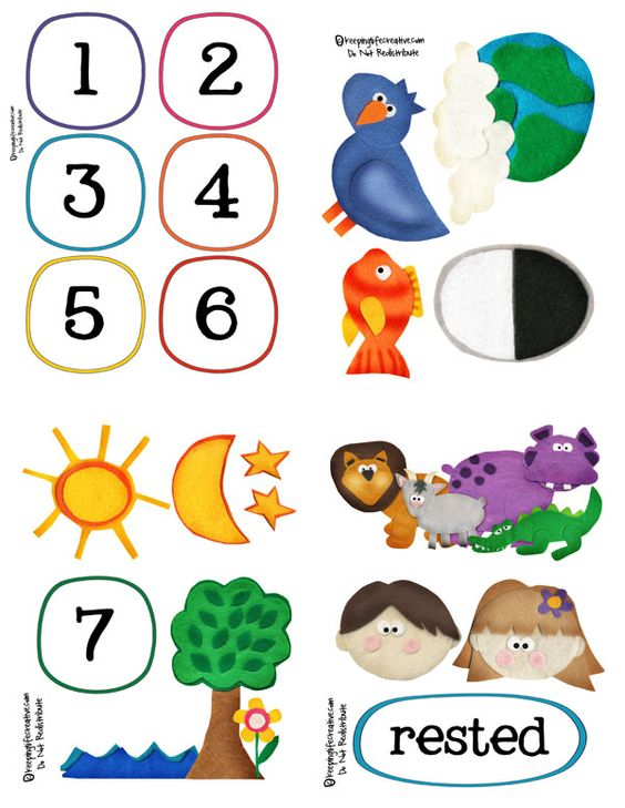The Creation Story Interactive Printables.