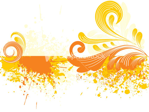 Lines Background With Artistic Banner.