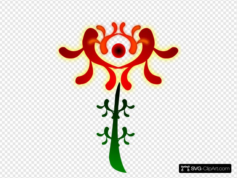 Artistic Flower Clip art, Icon and SVG.