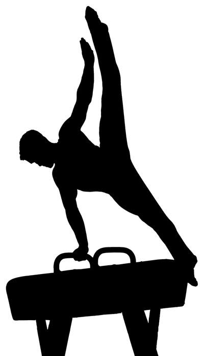 Artistic gymnastics clipart.