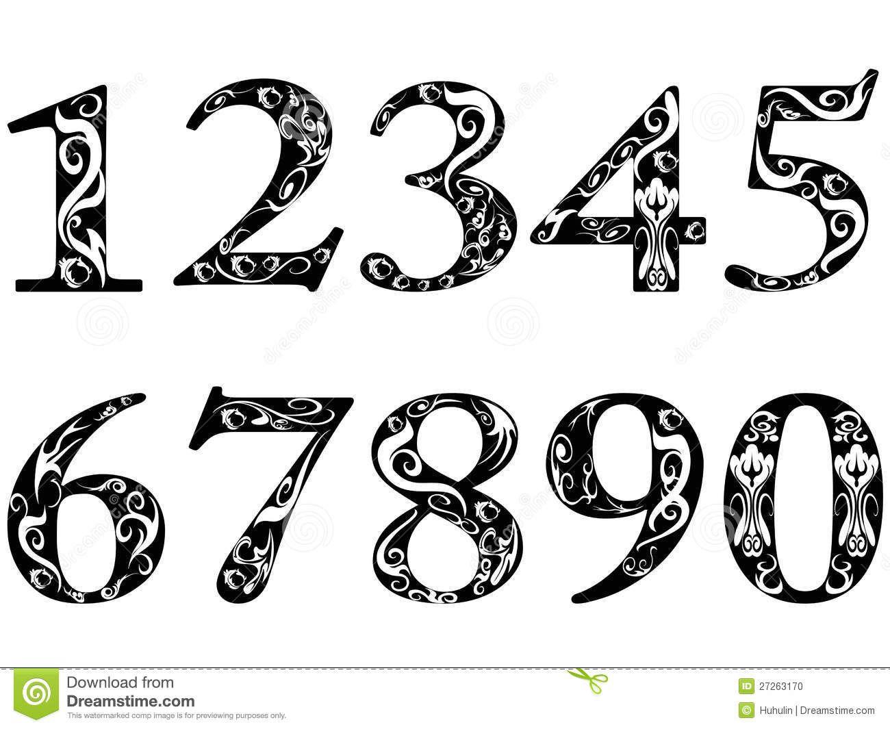 Old Cursive Numbers.