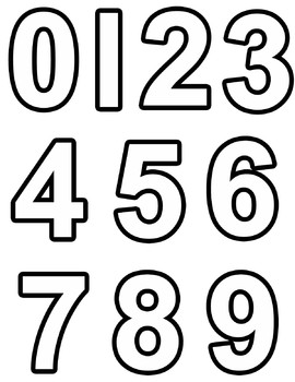 Numbers Clipart Black.