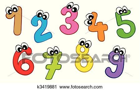 Cartoon numbers Clipart.