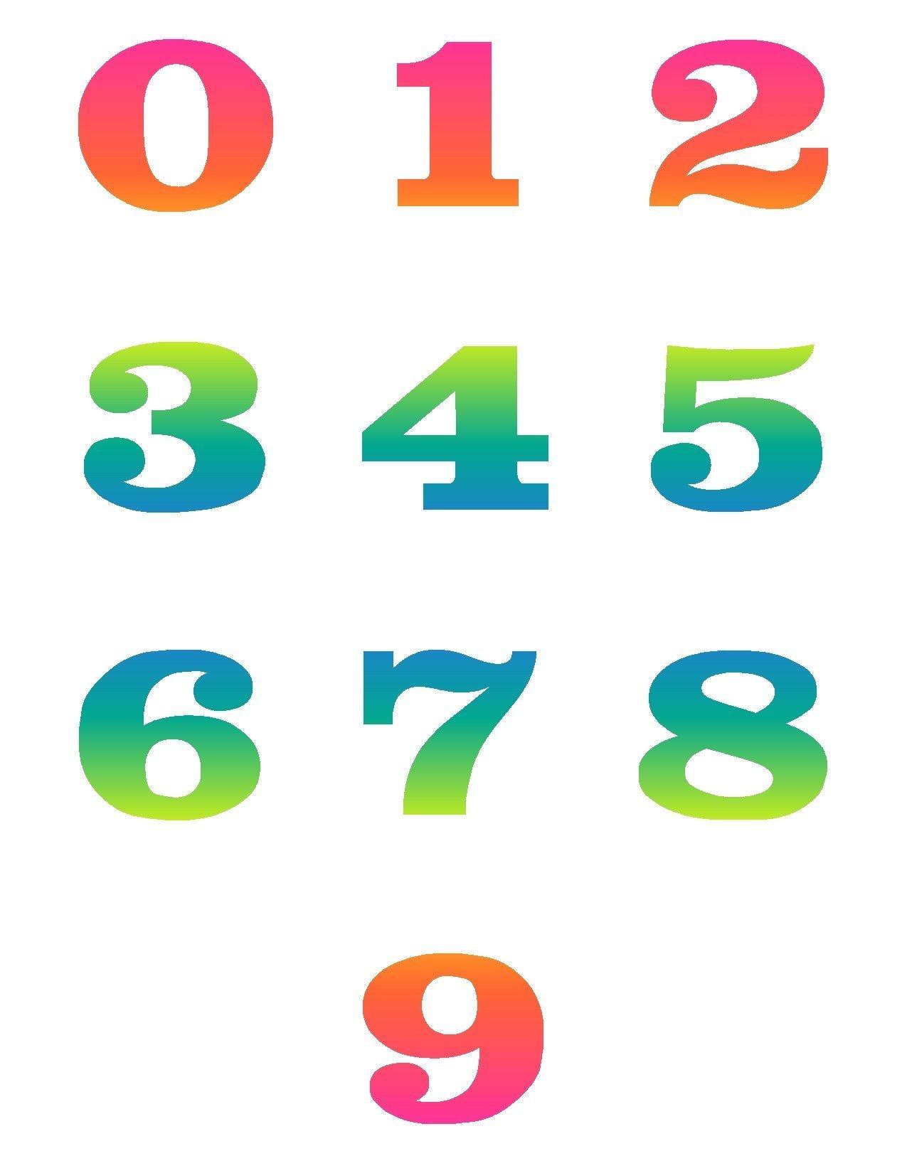 Artistic numbers clipart 4 » Clipart Portal.