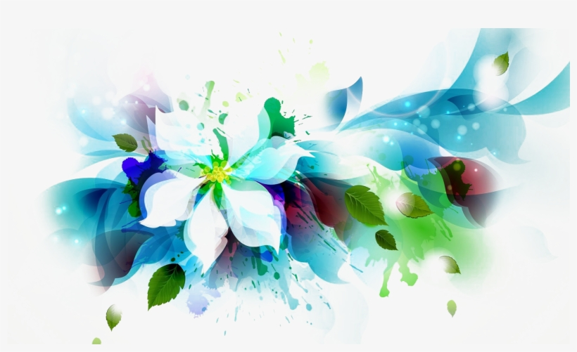 Abstract Flowers Png Banner Freeuse.