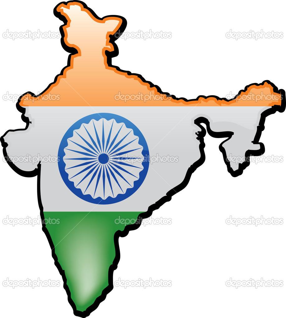 Map of India — Stock Vector © joeiera #8809858.