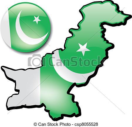 Vector of Pakistan.