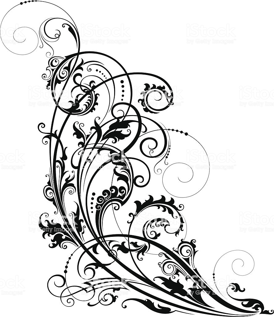 Artistic Scroll Stock Illustration.