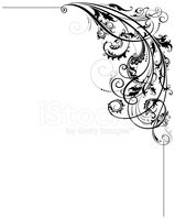 Artistic Scroll Corner stock vectors.