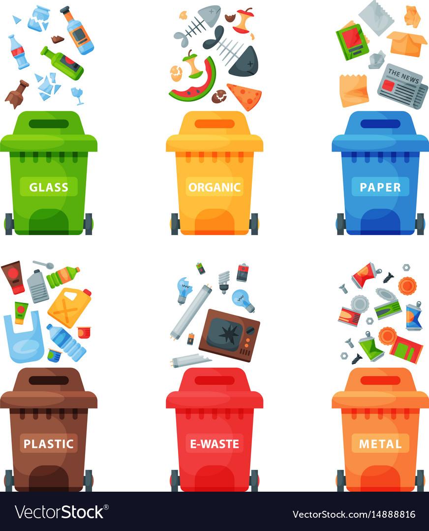 Waste management concept segregation separation.