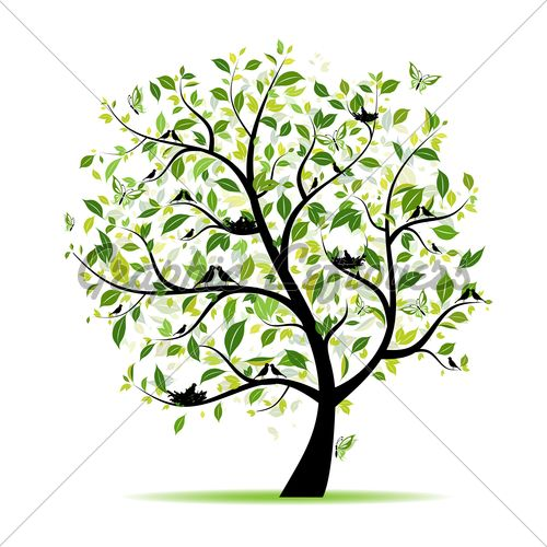 It starts as a mustard seed and grows into a tree where the.