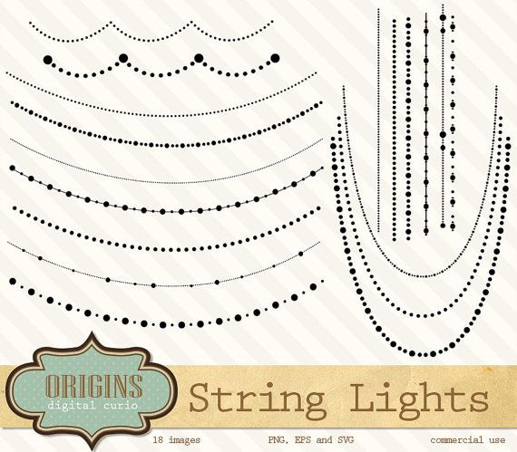 String Lights Clipart.
