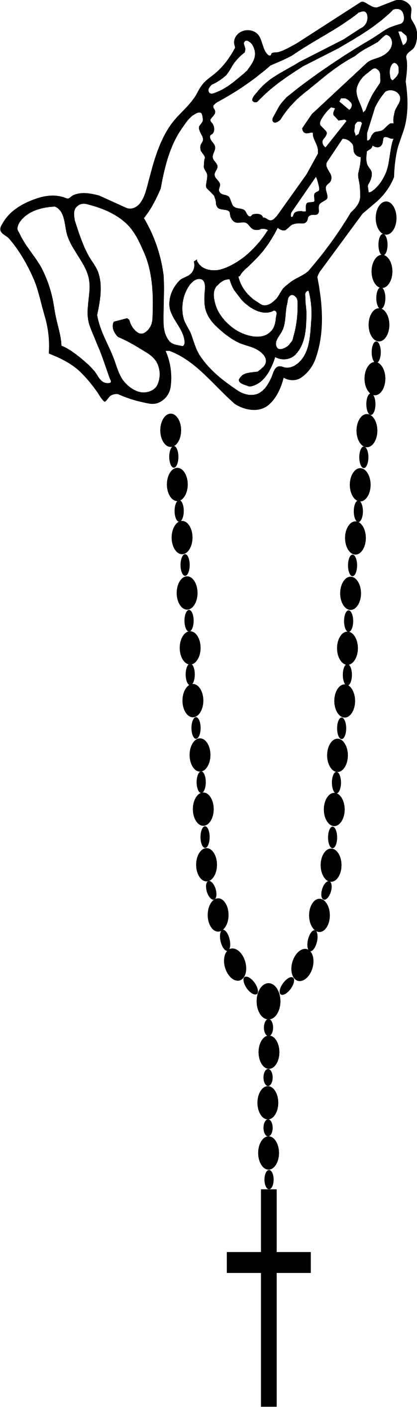 Rosary beads outline clipart.