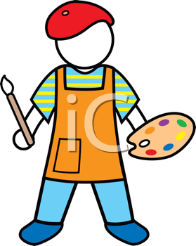 Royalty Free Artist Clip art, Occupations Clipart.