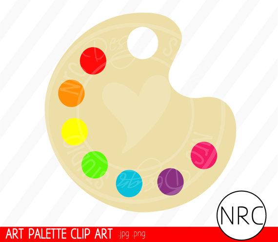 Artist Palette Clip Art.