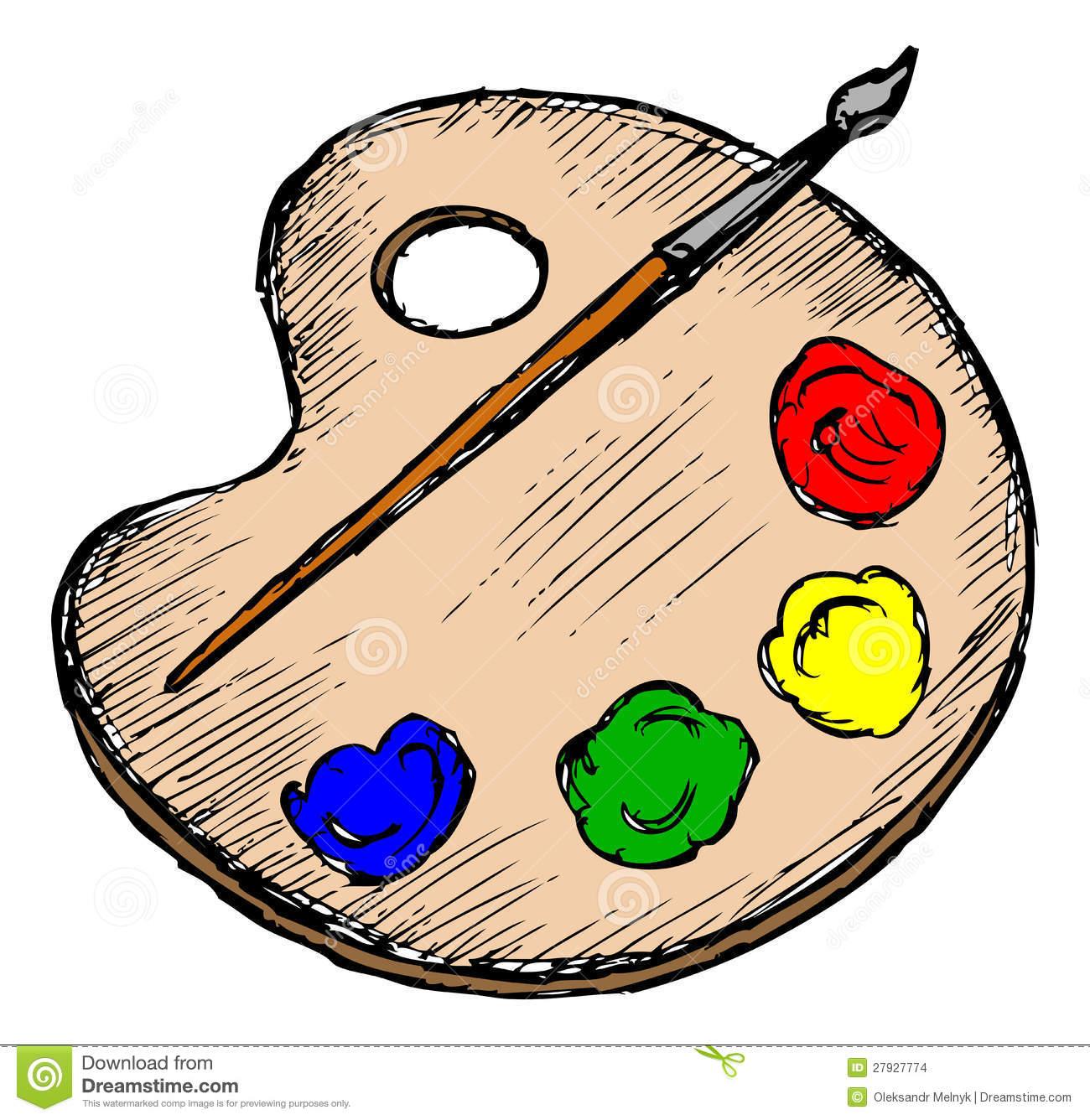 Art Palette Clip Art.