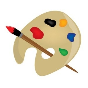 Clipart artist palette.