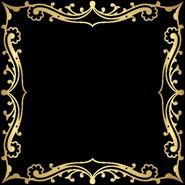 Decorative Border Frame Transparent Clip Art Image.