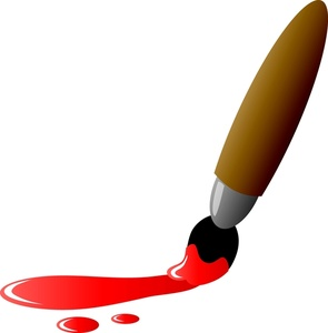 Paintbrush And Paint Clipart.