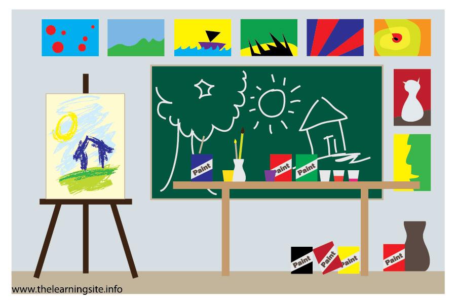 School Art Room Clipart.
