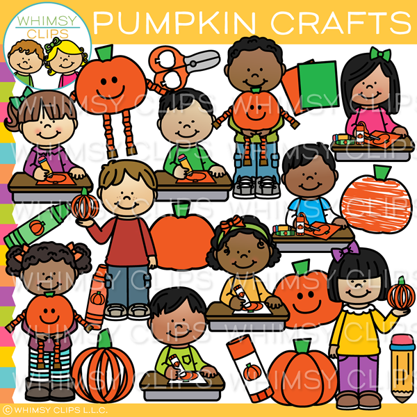 Pumpkin Arts and Crafts Clip Art.