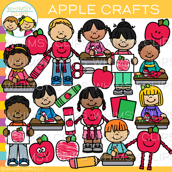 Apple Arts and Crafts Clip Art.