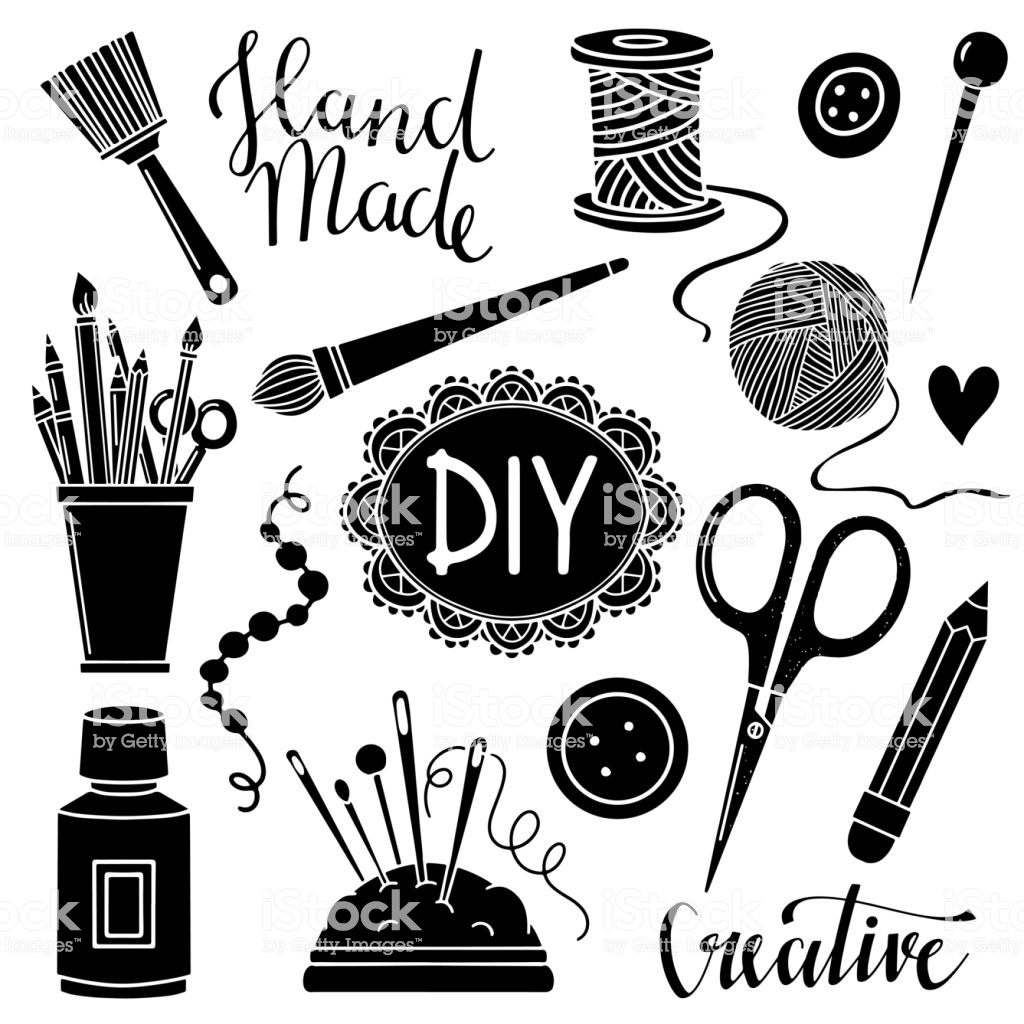 Arts And Crafts Sewing Painting Supplies Tools Stock.