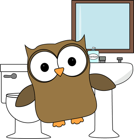 Owl Bathroom Monitor.