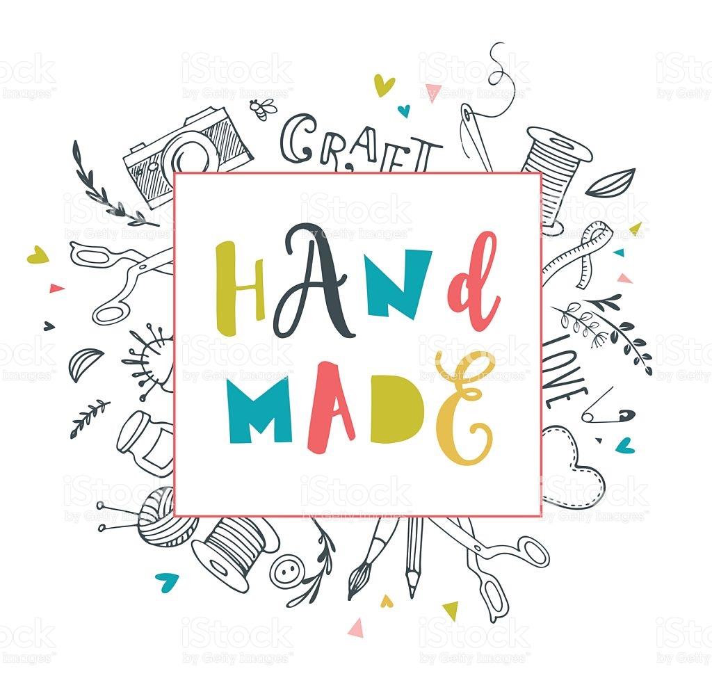 Handmade Crafts Workshop Art Fair And Festival Poster stock vector.