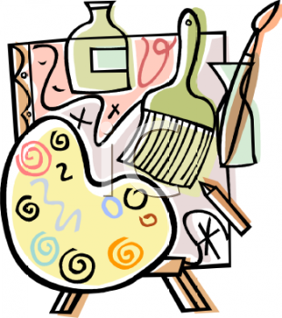 Arts and Crafts Supplies Clipart.