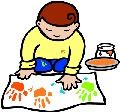 Arts and crafts style clipart.