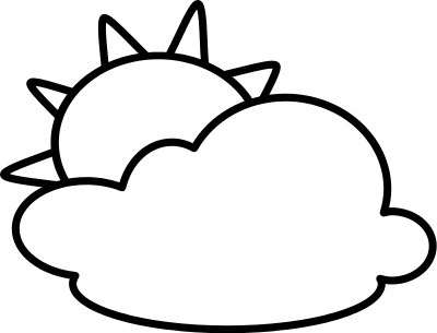 sun Cloud clip art black and white arts for free download on.