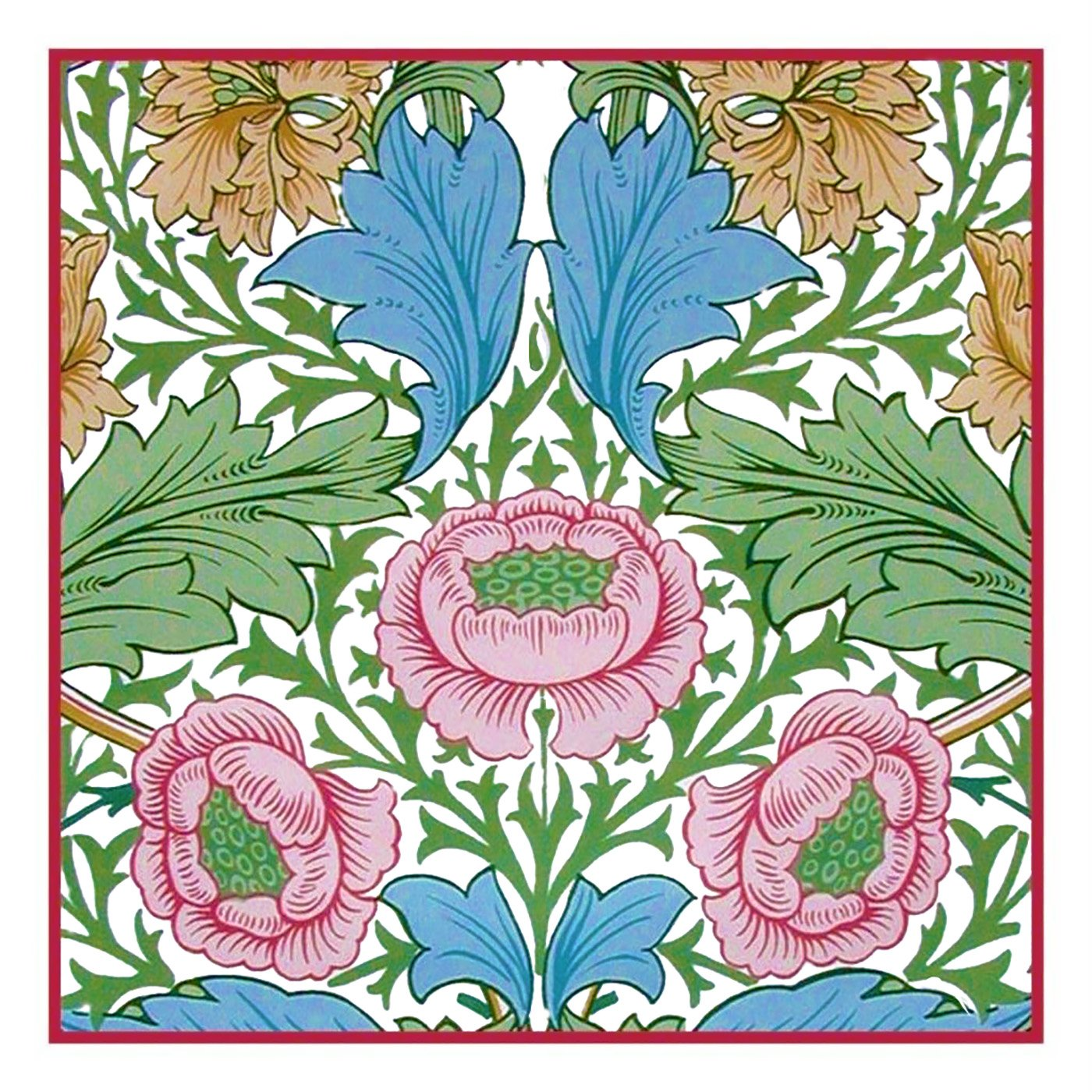 Arts & Crafts Style William Morris Myrtle Design Counted.