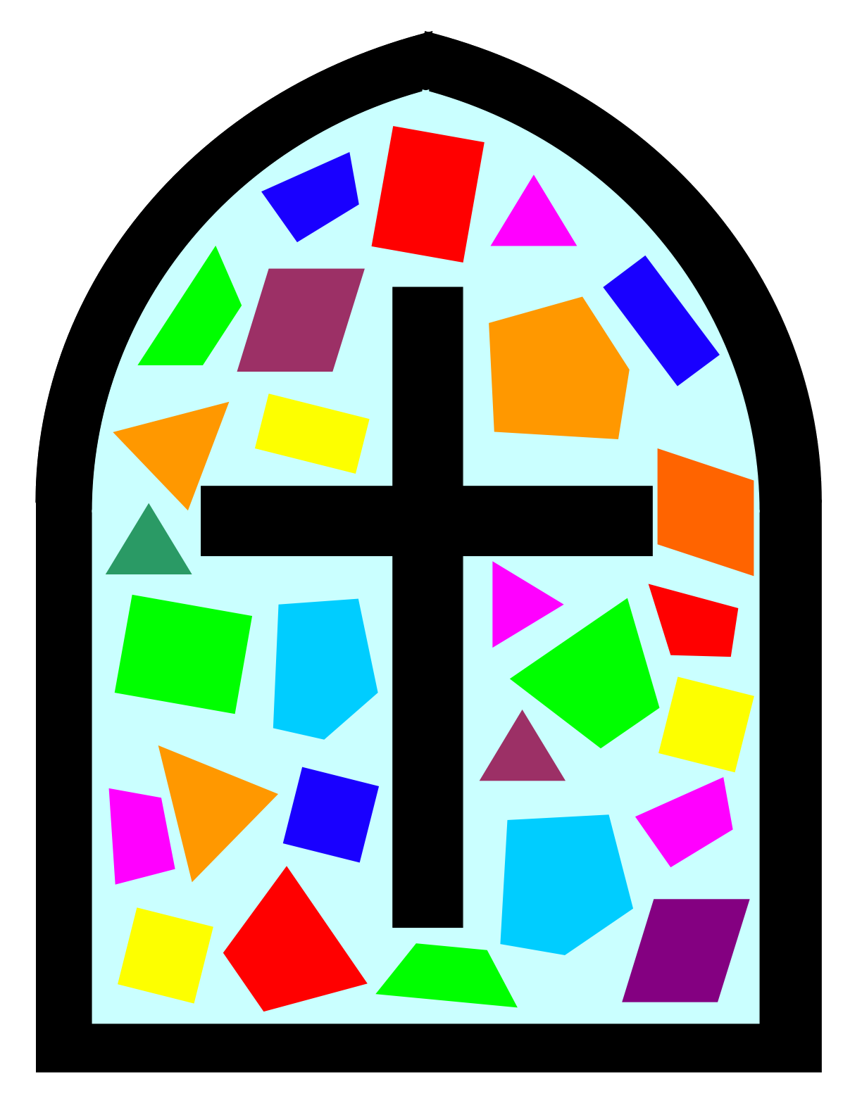 Clipart cross stained glass, Clipart cross stained glass.