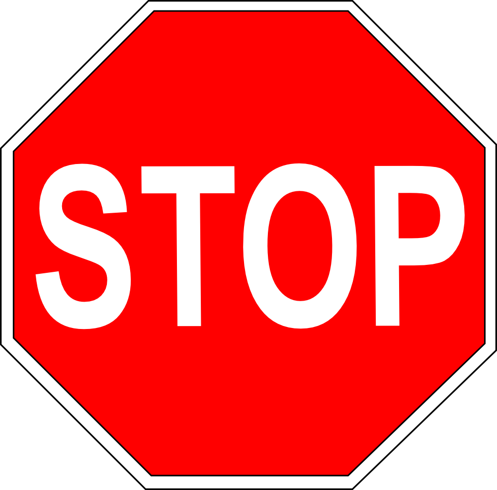 1032 Stop Sign free clipart.
