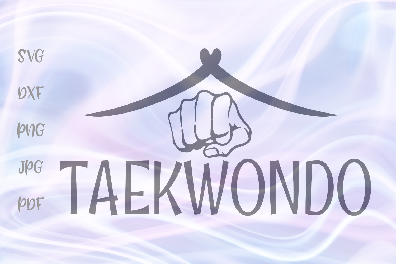 Taekwondo Martial Arts Sign Fist Clipart Cut File SVG DXF.