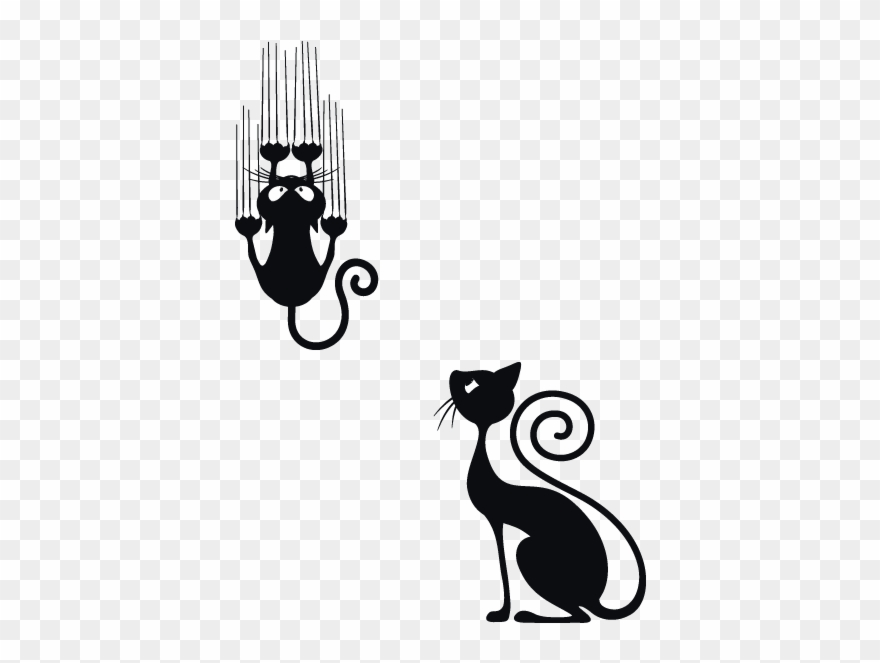 Black Cat Clipart Cat Scratch.