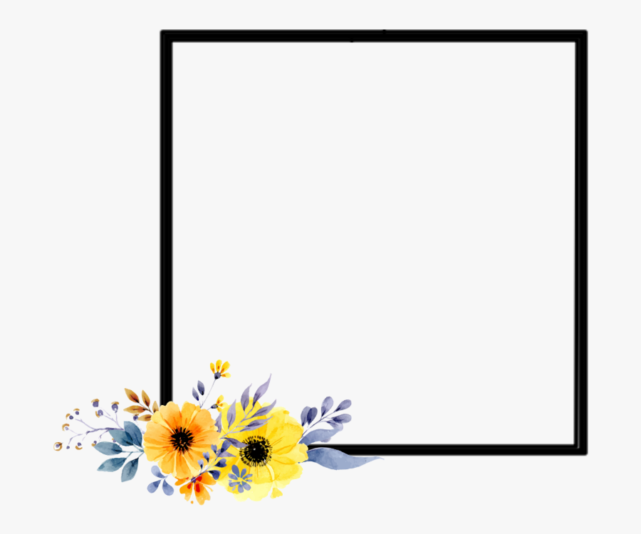 frame #flowers #border #yellow #black #plants #artsy.