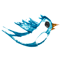 Artsy Twitter Bird Icon, PNG ClipArt Image.