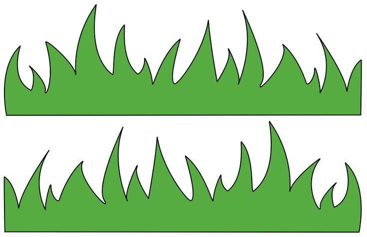 Grass Template For Kids.