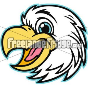 Eagle Mascot Head vector clipart stock artwork.