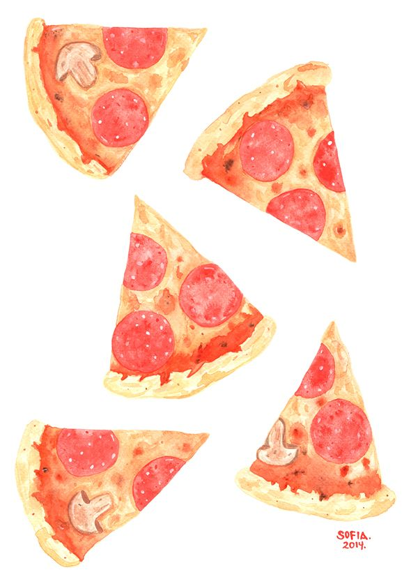 Pizza!! by SOFIA MARTINEZ A., via Behance.