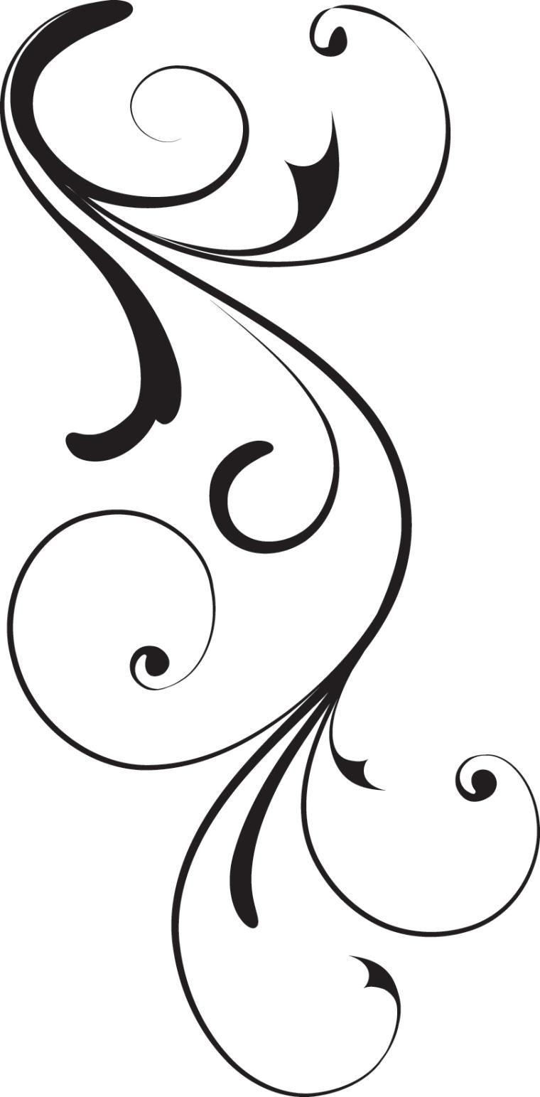 Swirl Corner Black Design Royalty Free Stock Vector Art.