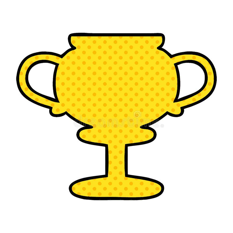 Cartoon Gold Cup Reward Award Cute Illustration Retro Freehand Free.