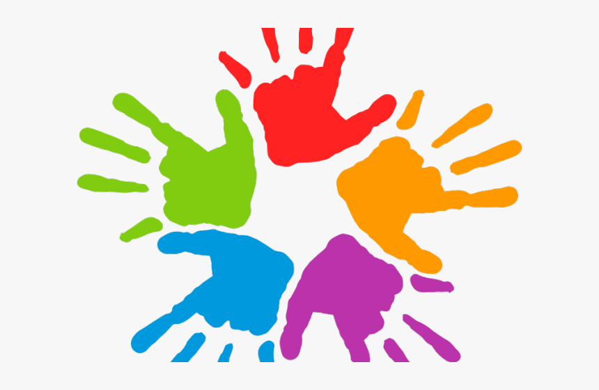 Artwork Clipart Colourful Hand.